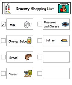Autism Tank: Grocery Shopping Visuals and Strategies
