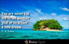 You are never too old to set another goal or to dream a new dream. - C. S. Lewis - BrainyQuote