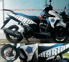 Honda Vario  ESP White Simply Blue HC Custom Sticker - Red bull motorcycle custom stickers