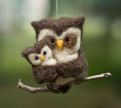 25 + лучшие идеи о игле войлочная сова на Pinterest ...