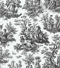 Home Decor Fabrics-Waverly Rustic Toile Black Fabric, , hi-res