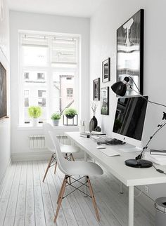 Simple Home Office Design Ideas. Therefore, the demand for home offices.Whether you are planning on adding a home office or renovating an old room right into one, right here are some brilliant home office design ideas to aid you begin. Tiny Home Office, Modern Home Offices, Small Office Design, Small Space Office, Small Room Design, Home Office Space, Office Interior Design, Home Office Decor, Office Interiors