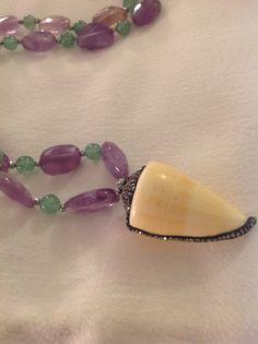 MG Jewellery Ametrine, hematite, sea shell