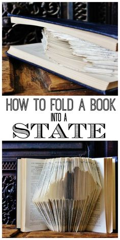 How to fold a book into a state or other design