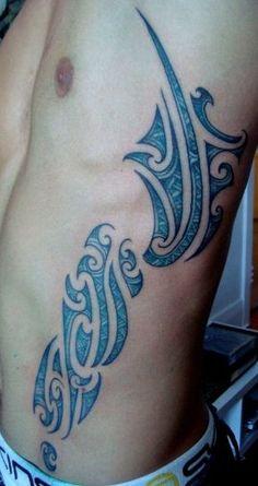 Blue and flank! Ta moko tattoo.