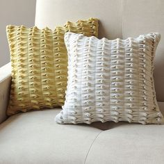 Make a pillow!  credit: West Elm [http://www.westelm.com/products/knotted-felt-pillow-cover-r972/?pkey=call-pillows]