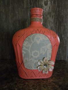 Hand painted liquor bottle by AllsupCreations on Etsy, $20.00