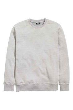 Sweatshirt: Top in sweatshirt fabric made from hard-washed cotton with ribbing at the cuffs and hem.