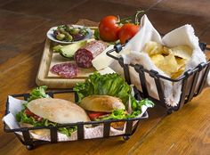 Orion Snack Baskets and Black Iron Bread Baskets give a new dimension to any dish presentation. Bread Baskets, Iron Table, Table Accessories, Indian Food Recipes, Tapas, Food Photography, Restaurant, Cheese, Snacks