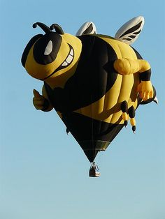 Yellow jacket - Buzzy the Bee hot air balloon by dcwells14, via Flickr.com