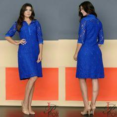 Azul ❤❤ Essa cor é  maravilhosa não mesmo meninas?  Acesse o site www.lolapolan.com.br  #lolapolan #vestidos #modaevangelica #moda #colaçaodeinveno