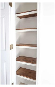 Small Pantry Cabinet, Small Pantry Closet, Small Kitchen Pantry, Small Pantry Organization, Kitchen Pantry Design, Pantry Shelving, Pantry Ideas, Shelves For Closet, Pantry Diy