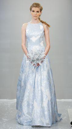 Icy blues   Theia Bridal Fall 2015 via @stylelist