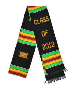 BESTSELLER! Kente Stole Class of 2012 Kente Cloth Stole - Graduation Stole Sash $17.99