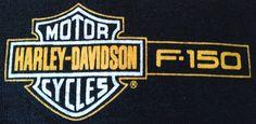 Harley Davidson Large F150 Black T Shirt Double Sided Shirt Big Logo On Back