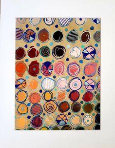 Mixed Media Painting, Mixed Media Canvas, Acrylic Canvas, Circle Shape, Painted Pumpkins, Handmade Art, Acrylics, House Warming
