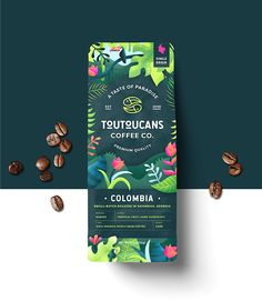 Logo design, branding, illustration, and package design for a fictional coffee brand. Food Packaging Design, Coffee Packaging, Print Packaging, Packaging Design Inspiration, Branding Design, Logo Design, Incense Packaging, Design Design, Graphic Design