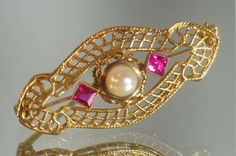 10K Solid Yellow Gold Victorian / Art Deco by GrandmothersEstate