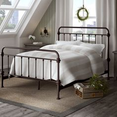 Kid's beds Lark Manor Cavaillon Panel Bed Metal Canopy Bed, Metal Beds, Canopy Frame, Canopy Beds, White Canopy, Bunk Beds, Murphy Bed Ikea, Murphy Bed Plans, Metal Platform Bed