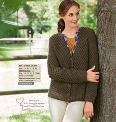V-neck Jacket - Bergère de France Catalogue