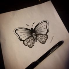 Butterfly&pattern dotwork