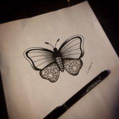 Butterfly&pattern dotwork