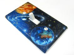 Blue Outerspace Galaxy Light Switch Cover Planet Earth Mars Outer Space Decor Switchplate Switch Plate Lightswitch