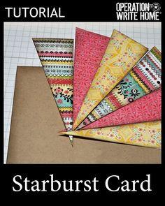 Starburst, great for scraps #tutorial