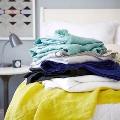 Oversized Washed Linen Bed Scarf- West Elm :: $100