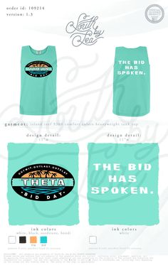 Kappa Alpha Theta | Survivor Theme | Bid Day | The Bid Has Spoken | Recruitment | Sisterhood | South by Sea | Greek Tee Shirts | Greek Tank Tops | Custom Apparel Design | Custom Greek Apparel | Sorority Tee Shirts | Sorority Tanks | Sorority Shirt Designs