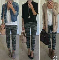 Camo jeans outfit ideas Camo jeans outfit ideas Kelly Outfits One thing I ve really tried to do Camo Jeans Outfit, Trouser Jeans Outfit, Black Leggings Outfit Summer, Olive Pants Outfit, Jeggings Outfit, Jogger Pants Outfit, Jeans Outfit Winter, Tights Outfit, Dress Pants
