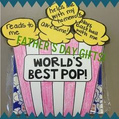 Father's Day FREEBIE! World's Best Pop with a bag of microwave popcorn.