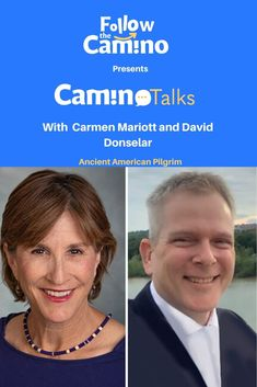 #CaminoTalks In this episode of our talk series, we had a Camino Talk with Carmen Marriott and David Donselar. Carmen lives in Tuscon, Arizona and is the Vice-Chairperson of the American Pilgrims on the Camino. She is actively working on supporting various Camino related projects.  Find more here: The Camino, Pilgrims, Arizona, David, American, Projects, Life, Camino De Santiago, Log Projects