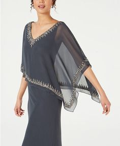 Plus Size Women S Bamboo Clothing Refferal: 9315962998 Cape Gown, Mother Of Groom Dresses, Beaded Chiffon, Mom Dress, Embroidery Fashion, Kurta Designs, Review Dresses, Women's Fashion Dresses, Gowns Online