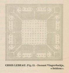 Chris Lebeau, damast servet bokken 1909