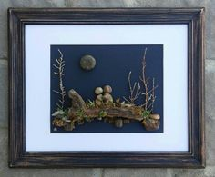 Pebble Art / Rock Art Couple in the outdoors on by CrawfordBunch