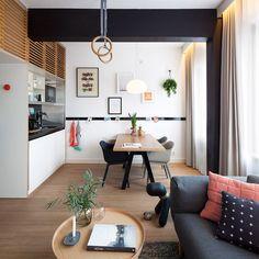 kitchenette équippée, coin repas, salon et anneaux gymnastiques, Concrete Studio