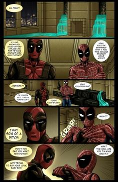 """Page 6 of my #Spideypool comic """"Never Say Never""""cuz I ♡ #Deadpool and #Spiderman"""