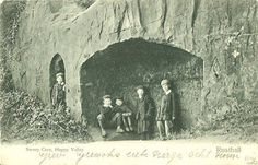 The Sweeps Caves in Happy Valley, Rusthall. Tunbridge Wells, Happy Valley, Caves, Vintage Images, Beautiful Places, Home And Family, Moon, Painting, Vintage Pictures