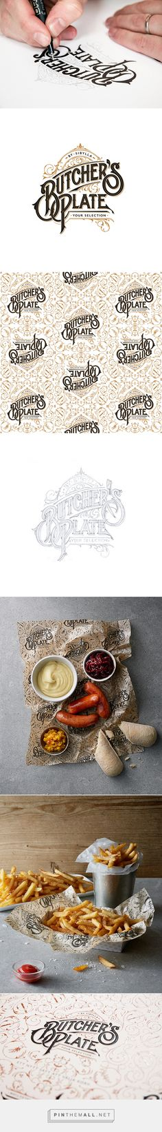 Butcher's Plate on Behance - created via http://pinthemall.net (good food logo)