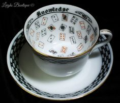 RARE Antique 1919 Fortune Teller's Tea Cup by leighswiccanboutique, $115.00