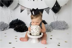 Black and White Studio Cake Smash - Shannon Lee Photography » Phoenix Area Maternity, Newborn, Child & Family Photographer