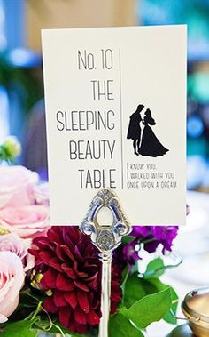 Decor: Creative Disney Table Names and Numbers| Disney Weddings                                                                                                                                                     More