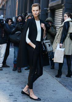 Karlie Kloss. Tommy Ton via Style.com #nyfw fall, 2014