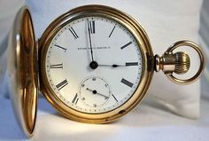 Elgin 1884-85 Pocket Watch LS Stem Wind Dueber Gold Filled Size 18 Hunting Case