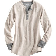 Women's Double Soft layered henley shirt combines two lightweight knits to create an incredibly comfortable tee with twice the insulating power.