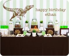 Little Big Company: Dinomite Dinosaur Themed Party by Sweet Tables - By Chelle