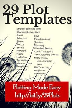 29 Plot Templates Know the Readers Expectations Before you Bust Them is part of Writing tips - Plot templates give novelists and authors a starting point to writing a plot novel that keeps readers riveted 29 examples of templates to pick and choose from Writer Tips, Book Writing Tips, Writing Process, Writing Resources, Writing Help, Writing Skills, Writer Workshop, Writing Services, Writers Write
