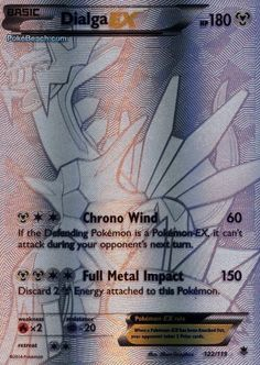 Dialga EX 122/119 - Pokemon XY Phantom Forces SECRET RARE PREORDER SHIPS 11/9 #Pokemon