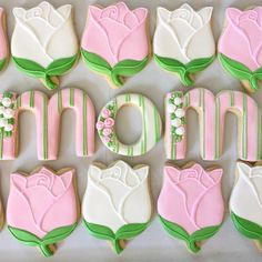 Rose Cookies Using Tulip Cutter